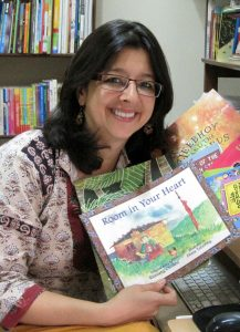 Anita with books cropped