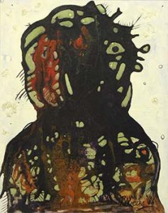 Untitled (Head), 1962. Oil & PVA on canvas 88 x 59.5 cm. 'The Warlord'